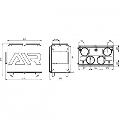DEFRO DRX 400 V 4